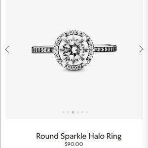 Pandora sparkle halo ring